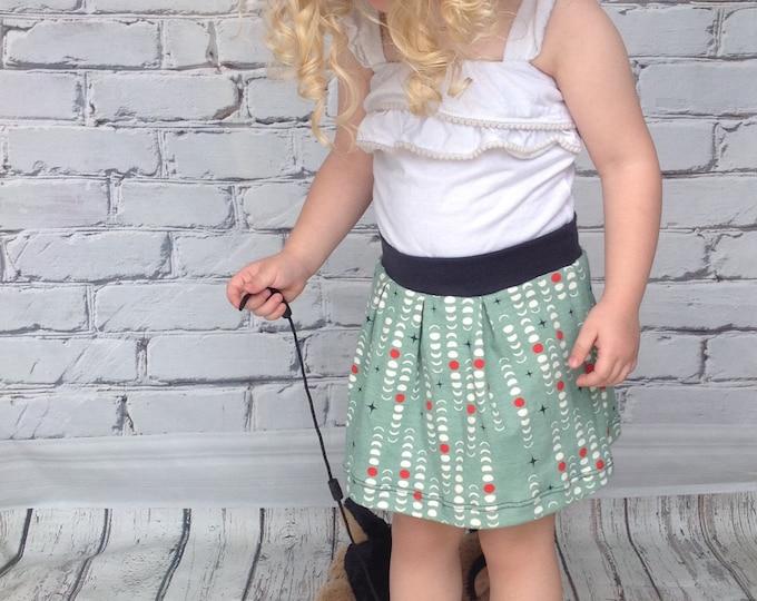 Moon Phase Toddler Skirt