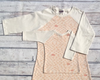 Mommy and Me Outfit Blush Raglan Sleeve Tee