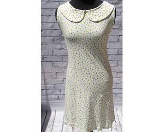 Yellow Peter Pan Collar Organic Cotton Dress