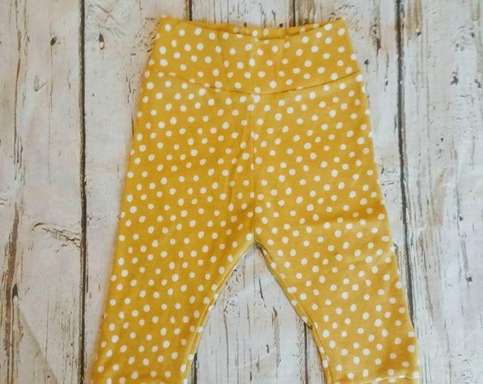Organic Yellow Polka Dot Joggers