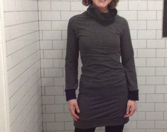 Organic Cotton Turtleneck Sweatshirt Dress
