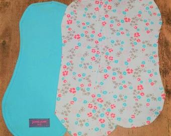 Organic Cotton Floral Burp Cloths