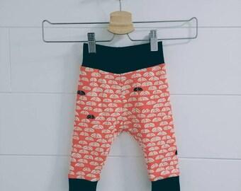 Organic Baby Harem Pants Coral