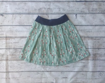 Moon Phase Pleated Skirt