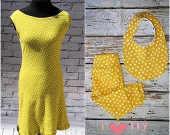 Yellow Polka Dot Mommy and Me Outfit