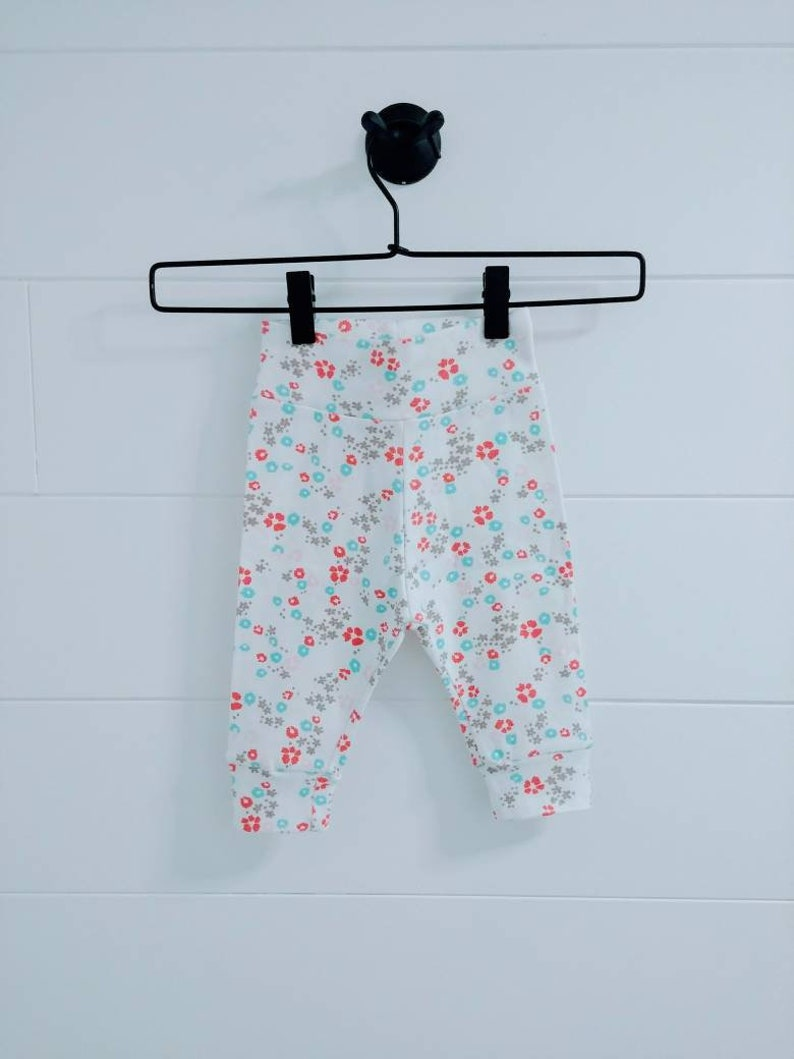 c1f4d576910b Floral Baby Joggers Organic Cotton