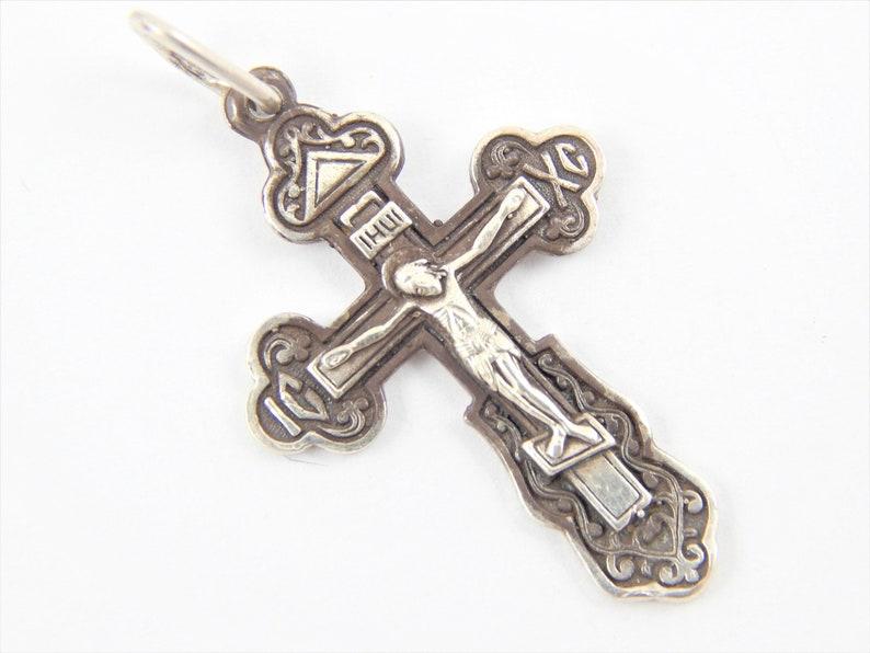 holiday cross crucifix slavic orthodox pendant