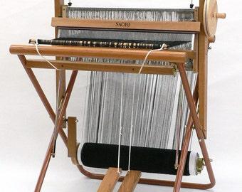 SAORI SX-60H Foldable Weaving Loom - Metal side frame, wooden shelf, prewound warp. built-in bobbin winder, shuttle, bobbins.  SAORI SX60H