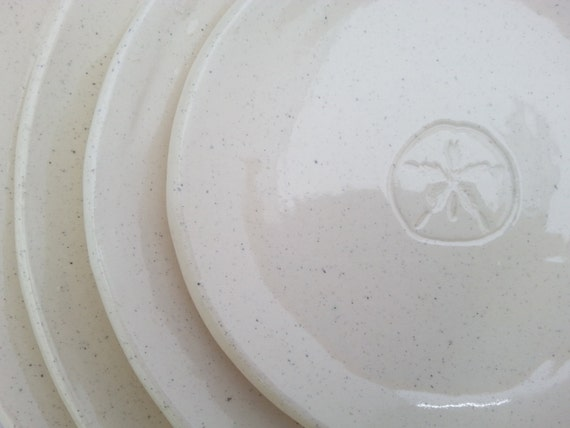 Stamped Sand Dollar Place Setting: 4 Plates