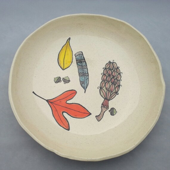 Forest Treasures Serving Bowl