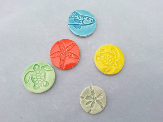 Sea Life Magnets Set of 3 Ready to Ship!