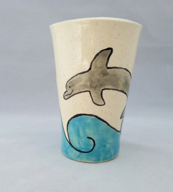 Dolphin in the Waves Tumbler