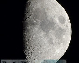 Partial Moon, 16x16 Fine Art Photograph (G9369)