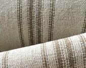 Grain Sack Fabric Tan Stripes Vintage Inspired By The Yard Feed Sack Fabric Flour Sack Fabric Gunny Sack Fabric Grain Sack Cloth