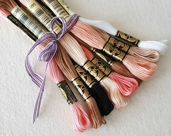 DMC Embroidery Floss - Essential Doll Making Collection - 9 Skeins DMC Thread