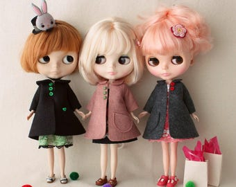 Vintage Swing Coat pdf Pattern for Blythe Dolls