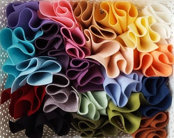 My Faves - Merino Wool Blend Felt 22 Sheets - Your Choice of 6x9 or 9x12