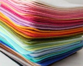 PURE Merino Wool Felt 5 - 8x12 Sheets