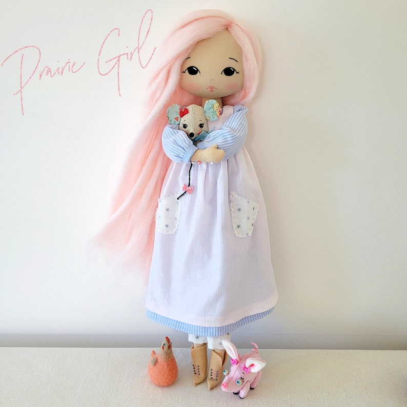Prairie Girl Outfit Patterns for Sparkle Starlet Doll  pdf image 1