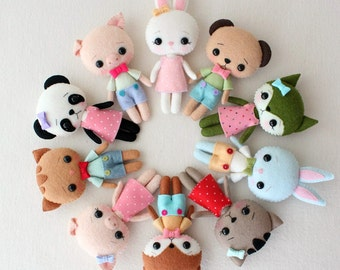 Pocket Pets pdf Pattern - Complete Set of 5
