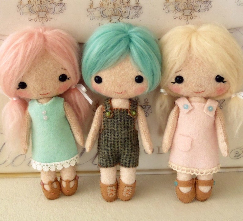 Cotton Candy Dolls pdf Pattern  Instant Download image 0
