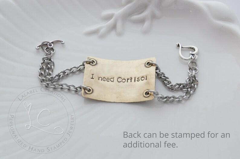 Medical Bracelet Medical Alert Bracelet Hand Stamped Bracelet Medical ID Bracelet Women Personalized Bracelet Medical Jewelry for Women