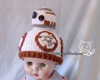 Robot Beanie Hat, 4 Sizes Bay-Adult, INSTANT DOWNLOAD Crochet Pattern NOT physical Item