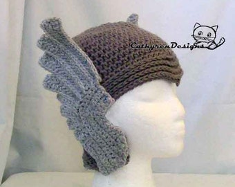 Thor Helmet Hat, 5 Sizes Bay-Adult, INSTANT DOWNLOAD Crochet Pattern