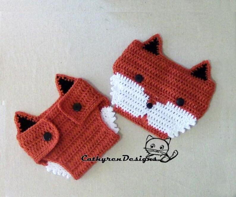 03d8e309d Baby Fox Diaper Cover- INSTANT DOWNLOAD Crochet Pattern