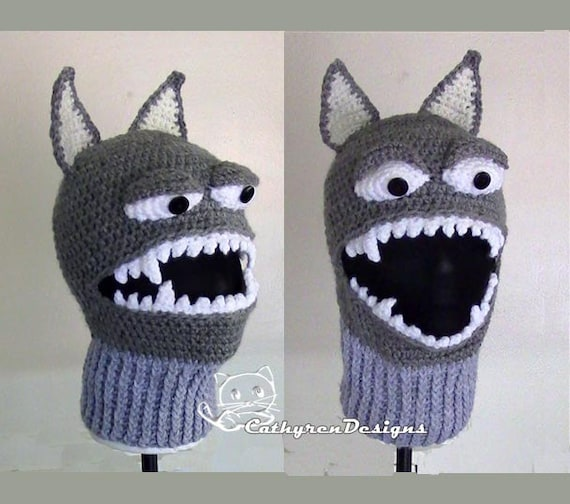 Wolf Ski Mask 5 Sizes Child Adult Instant Download Crochet Etsy
