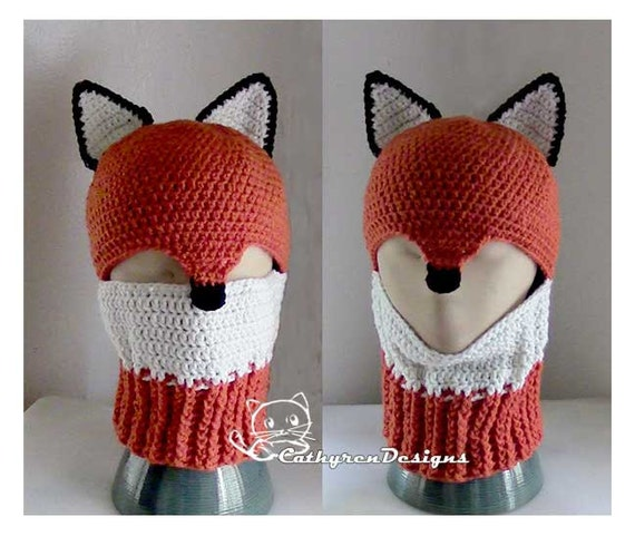 Fox Ski Mask Ski Hat 5 Sizes Child Adult Instant Download Etsy