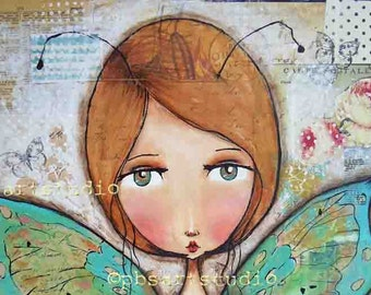 Butterfly girl-CANVAS PRINT