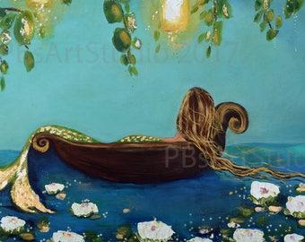 Mermaid art-What dreams may come-CANVAS PRINT