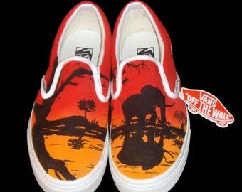 89e02b08a4 Hand Painted Vans - African Sunset