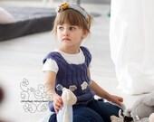 Chunky knit girl vest, Chunky baby girl knit tunic, Girl knit wear