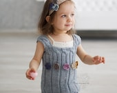 Chunky knit kids vest, Chunky baby girl knit tunic, toddler girl knit wear
