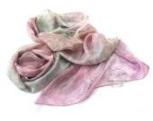 Pastel large silk scarf, silk scarf for women, pastel bridal wrap shawl, custom silk scarf