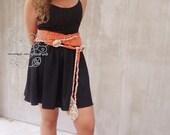 Tangerine scarf, freeform...