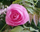 Pink rose hair clip for w...