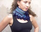 Blue infinity scarf, Blue...
