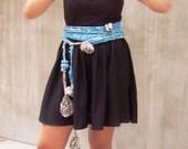 Blue scarf freeform croch...