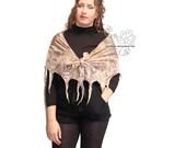 Beige nuno felt scarf, Beige long felt scarf, Beige fringes felt scarf, nuno felt scarf for women, felt wrap scarf,