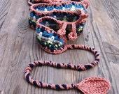 Colorful crochet boho bel...