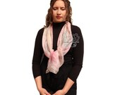 Pastel long scarf, pastel silk scarf, pastel silk scarf for hair, silk head wraps for women