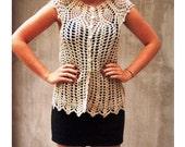 Vest crochet lace rustic ...