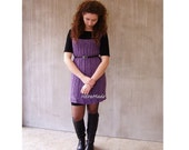 Lavender tunic hand knit ...