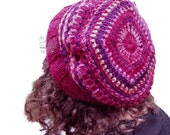 Red beret hat crochet wom...