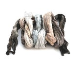 Black thin silk scarf for women, Gray silk scarf unisex gift for him, scarf for hair