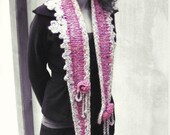 Boho chunky knit freeform long scarf winter bohemian clothing