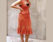 Crochet lace dress femini...